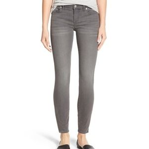 "Madewell 9"" High Riser Skinny Jeans in grey"
